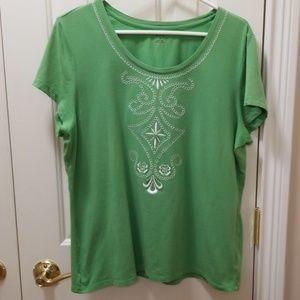 Style & Co. green shirt sz XL
